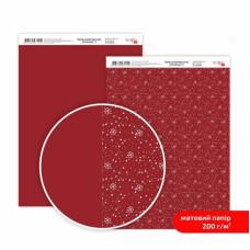 Бумага дизайнерская двусторонняя матовая Christmas 3, 21х29,7 см, 200 г/м2, Rosa Talent