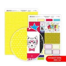 Бумага дизайнерская двусторонняя матовая, Color style 8, 21х29,7 см, 200 г/м2, Rosa Talent