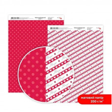 Бумага дизайнерская двусторонняя матовая, Love 7, 21х29,7 см, 200 г/м2, Rosa Talent