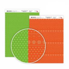 Бумага дизайнерская двусторонняя матовая New Year 4, 21х29,7 см, 200 г/м2, Rosa Talent