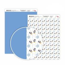 Бумага дизайнерская двусторонняя матовая New Year 6, 21х29,7 см, 200 г/м2, Rosa Talent