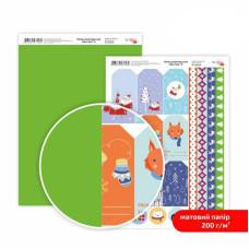 Бумага дизайнерская двусторонняя матовая New Year 8, 21х29,7 см, 200 г/м2, Rosa Talent