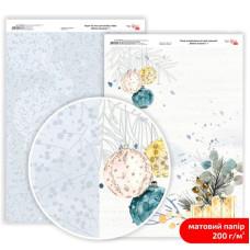 Бумага дизайнерская двусторонняя матовая Winter Dreamer 1, 21х29,7 см, 200 г/м2, Rosa Talent