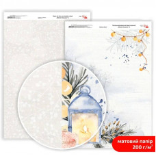 Бумага дизайнерская двусторонняя матовая Winter Dreamer 2, 21х29,7 см, 200 г/м2, Rosa Talent