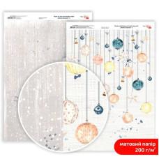 Бумага дизайнерская двусторонняя матовая Winter Dreamer 5, 21х29,7 см, 200 г/м2, Rosa Talent