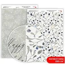 Бумага дизайнерская двусторонняя матовая Winter Dreamer 6, 21х29,7 см, 200 г/м2, Rosa Talent