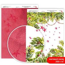 Бумага дизайнерская двусторонняя матовая Holiday Time 2, 21х29,7 см, 200 г/м2, Rosa Talent