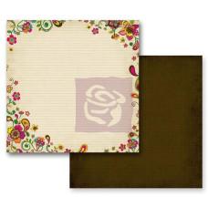Двусторонняя бумага Paisley Road - Assam 30х30 см от Prima