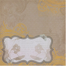 Односторонняя бумага Tan Frame 30х30 см от DCWV