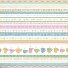 Односторонняя бумага Coffee Stripes 30х30 см от DCWV