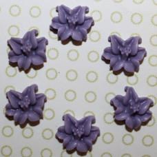 Кабошон Лилия фиолетового цвета, 13 мм, 1 шт