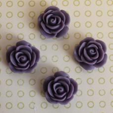 Кабошон розочка фиолетового цвета, диаметр 17 мм, толщина 7 мм
