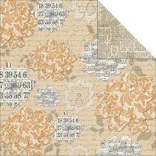 Двусторонняя текстурная бумага Flowers 30х30 см от Teresa Collins