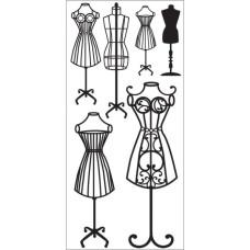Натирки для скрапбукинга Dress Forms от Kaisercraft