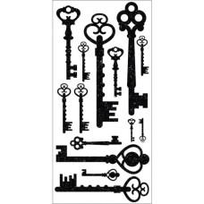 Натирки для скрапбукинга Keys от Kaisercraft