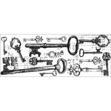 Акриловый штамп Keys от Kaisercraft, 13х5 см