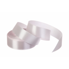 Атласная лента, рулон, #90, розово-серый, 25 мм, 23 м