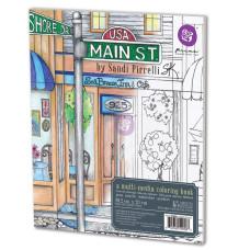 Книга микс-медиа для раскрашивания SP Coloring Book - Main Street, 20х23 см Prima