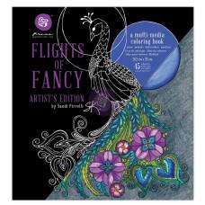 Книга микс-медиа для раскрашивания SP Coloring Book - Flight of fancy, 20х23 см Prima
