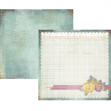 Двусторонняя бумага для скрапбукинга Floweret 30х30 см от Basic Grey