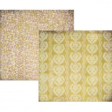 Двусторонняя бумага для скрапбукинга Yellow Wallpaper 30х30 см от Basic Grey