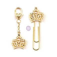Набор для декора планеров клипса + шармик PTJ Charms - Crowns, 2 шт, Prima