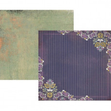 Двусторонняя бумага для скрапбукинга Wild Grape Bistro 30х30 см от Basic Grey