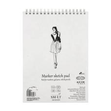 Альбом для маркеров на спирали, Authentic А5, 100 г / м2, 40л, белый цвет, Smiltainis