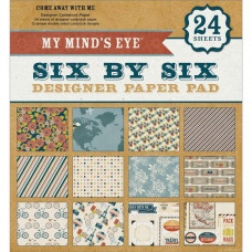 Набор бумаги Come Away With Me 15х15 см 12 листов от My Minds Eye