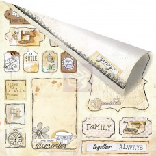Двусторонняя бумага Love Tags 30х30 см от Prima
