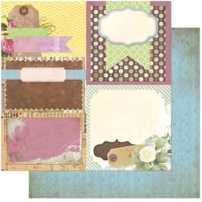 Двусторонняя бумага для скрапбукинга Decoupage 30х30 см от Bo Bunny