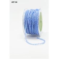 Бусины на нити голубого цвета от May Arts, 90 см