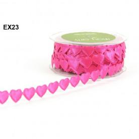 """Декоративная лента """"Сердечки"""" ярко-розового цвета 90 см от May Arts"""