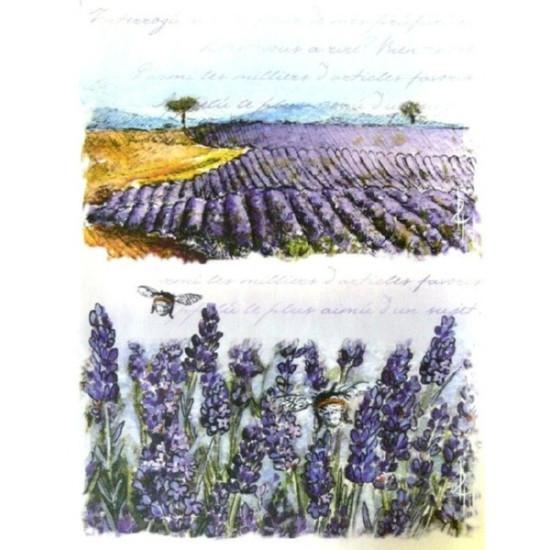 """Декупажная карта """"Цветочная долина"""" 21х29,7 см от компании Cheap Art"""