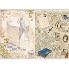 """Декупажная карта """"Любовное письмо"""" 21х29,7 см от компании Cheap Art"""