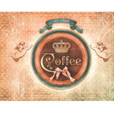 """Декупажная карта """"Кофе для ангелов"""" 21х29,7 см от компании Cheap Art"""