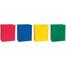 Пакет дарунок глянсовий 26х31 см, ручки стрічка, червоний