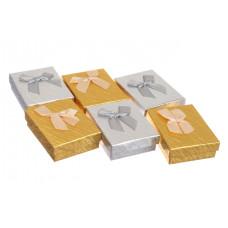 Коробочка для бижутерии, 1 шт, серебро, 9х7х2,5 см
