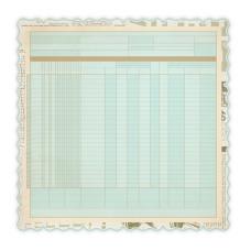 Бумага для скрапбукинга с фигурным краем DieCut Ledger Blue 30х30 см от Studio Calico