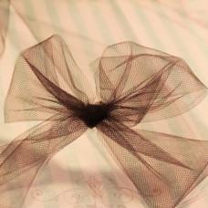 Декоративная сетка (фатин) шоколадного цвета от Falk, ширина 14 см, длина 90 см