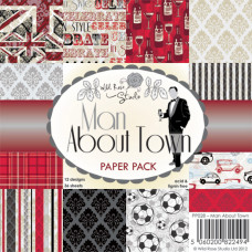 Набор бумаги Man About Town 15х15 см 12 листов от Wild Rose Studio