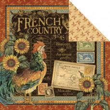 Двусторонняя бумага French Country 30х30 см от Graphic 45