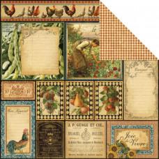 Двусторонняя бумага Bon Appetit 30х30 см от Graphic 45