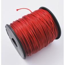 Вощеный шнур насыщенного красного цвета, длина 90 cм