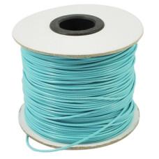 Вощеный шнур насыщенного голубого цвета, длина 90 см