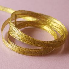 Блестящая золотая лента из полиэстера шириной 6 мм, длиной 90 см