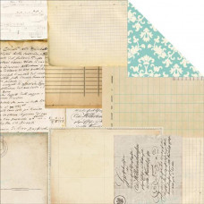 Двусторонняя бумага Script & Scribbles 30х30 см от Carta Bella