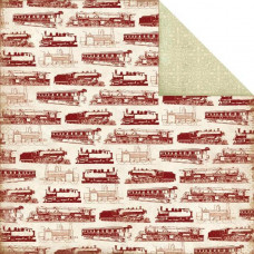 Двусторонняя бумага The Express 30х30 см от Carta Bella