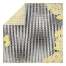 Двусторонняя бумага Energize - Wavy Chevron Floral 30х30 см от Authentique Paper