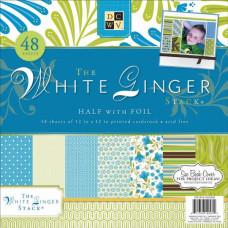 Набор бумаги для скрапбукинга White Ginger 30х30 см 24 листа от DCWV